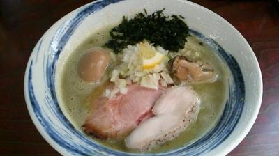 「【限定】濃厚牡蠣鶏そば 850円」@麺屋 むじゃきの写真