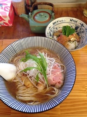 「【ラW限定】金目鯛と真鯛の中華そば  お茶漬けつき」@中華そば よしかわの写真