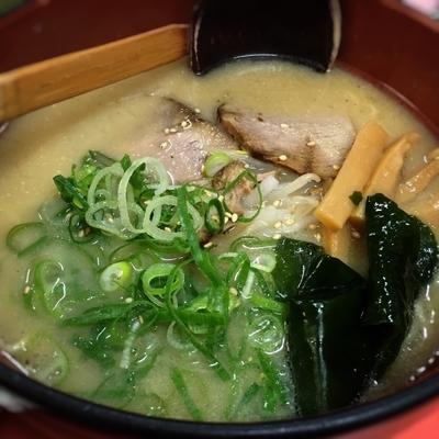 「Bセット(味噌ラーメンと焼飯)」@竹家ラーメンの写真