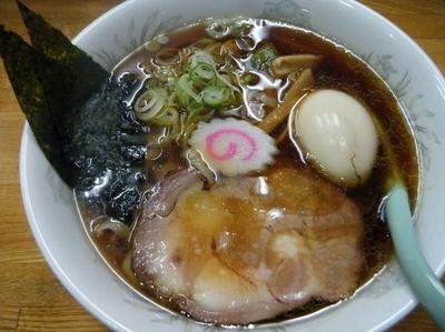 「醤油ラーメン+味玉750円」@自家製手打ち白河ラーメン 麺家の写真