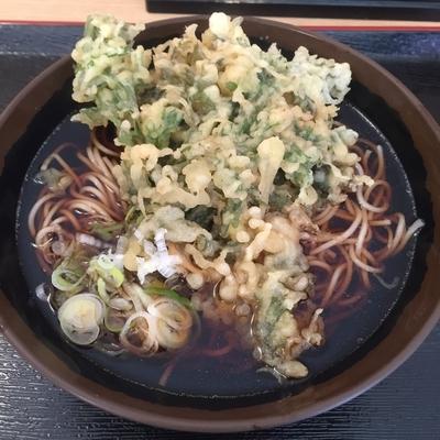 「春菊天(¥420)」@立食蕎麦処 おか田の写真