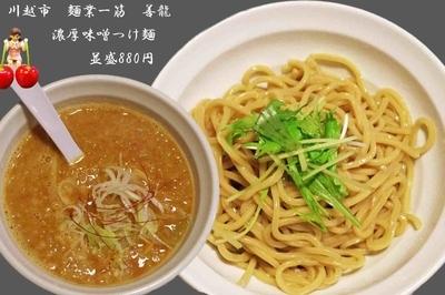 「濃厚味噌つけ麺(並) 880円」@めん業一筋 善龍の写真