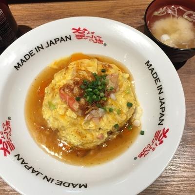 「かに肉とろ玉ピリ辛チャーハン(かに味噌汁付き)」@かにチャーハンの店 横浜店の写真