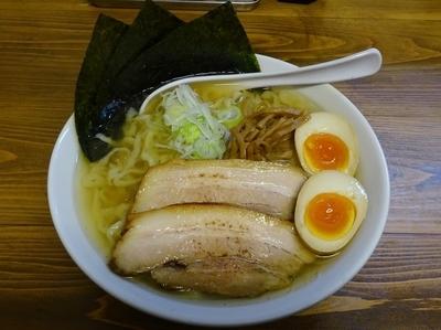 「塩特製らー麺(950円)250g」@くじら食堂の写真