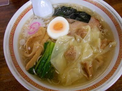 「塩ワンタン麺780円」@手打ちラーメン 英の写真