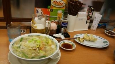 「野菜たっぷりタンメン」@日高屋 新宿三丁目店の写真