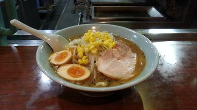 「特製みそラーメン+野菜ぎょうざ」@満北亭 玉川上水店の写真