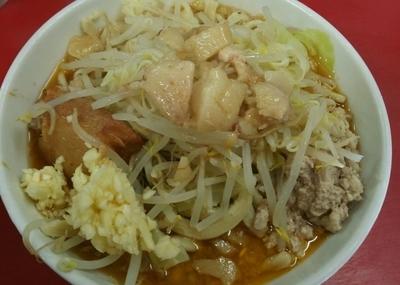 「[限定]スパイシー肉たまラーメン ミニ 750円」@蓮爾 登戸店の写真