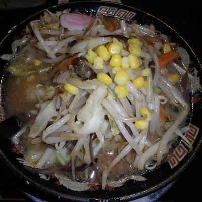 「野菜ラーメン(680円)(バリカタ)、替玉(100円)(カタ」@ラーメン工房 ふくやの写真
