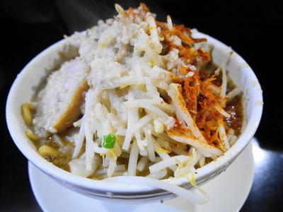 「味噌ラーメン ヤサイ+脂+辛目+唐辛子マシマシ」@麺や 希 御徒町店の写真