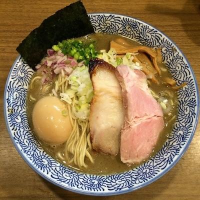 「味玉極上濃厚煮干しそば(大盛) ¥980」@煮干しつけ麺 宮元の写真