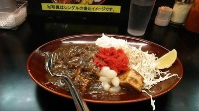 「黒い肉カレー 中盛  890円」@カレーは飲み物。 ニュー新橋ビル店の写真
