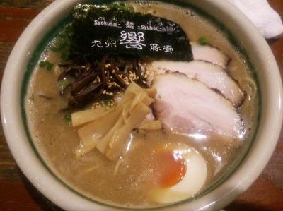 「ひびき肉増らぁめん(ハリガネ)+替え玉(ハリガネ)」@食彩麺酒房 響の写真