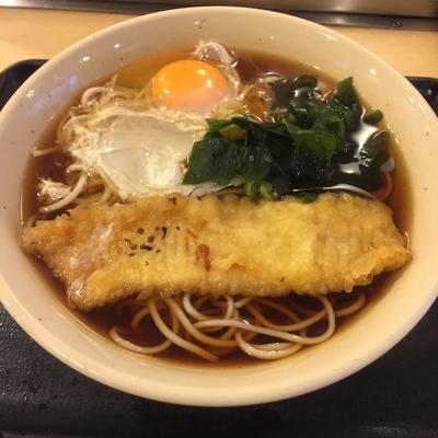 「【感謝デー商品】いか天(¥350)+生たまご(¥50)」@蕎麦屋 みはちの写真