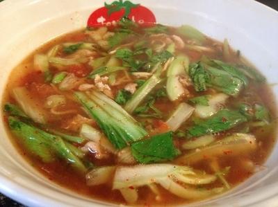 「宝天麺+小ライス」@とまとの里 信濃路 阿波座店の写真