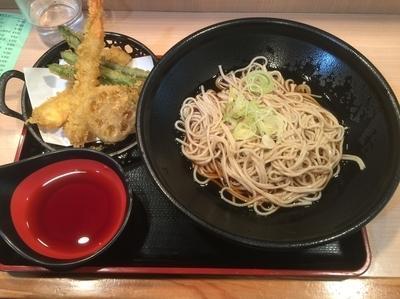 「天ぷらセット(冷かけ)¥620」@そば処 ことぶきの写真