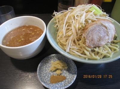 「つけ麺 中盛 ¥780 ニンニク野菜2倍」@ダントツラーメン 岡山一番店の写真