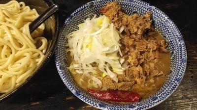 「かれあつ+ほぐし肉+ネギ増し 1100円」@狼煙 〜NOROSHI〜の写真