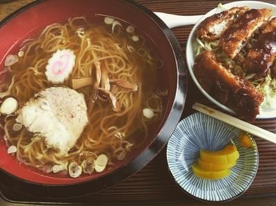 「日替わり(ラーメンソースかつ丼)」@まんさく食堂の写真