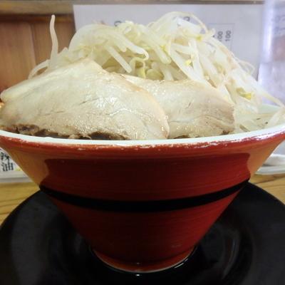 「辛味ラーメン(並)(太麺)(700円)」@ラーメン どかいち 玉島店の写真
