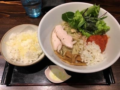 「【限定】シャケトマーゼ+しめのめし」@麺や 蒼 AOIの写真