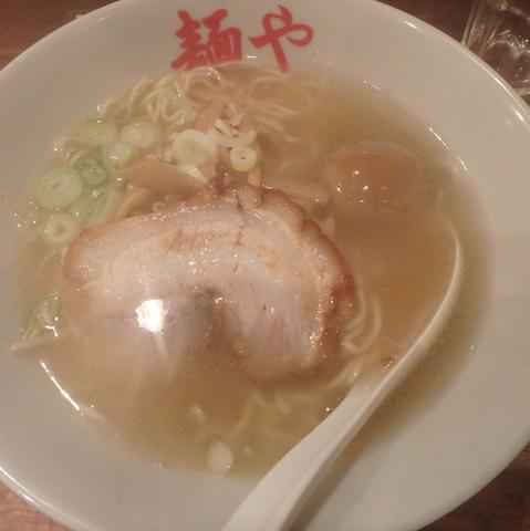 「白(640円)、味玉(110円→クーポン)、Bセット」@拉麺専門店 麺やの写真