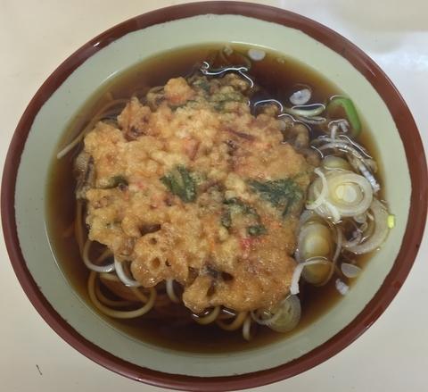 「天ぷらそば(¥350)」@きそば鈴一の写真