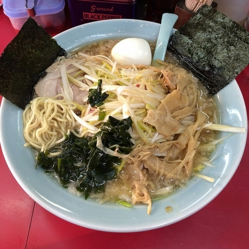「ネギラーメン¥750+茹で卵¥30」@ラーメンショップ幸手 金田亭の写真