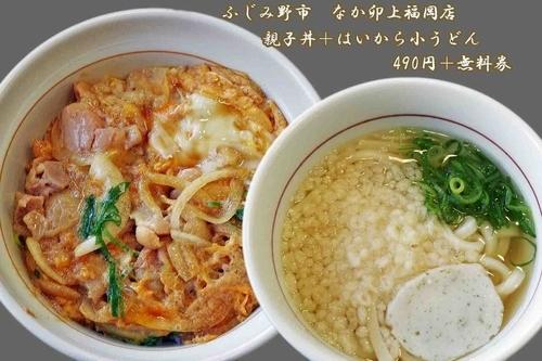 「親子丼&はいから小うどん」@なか卯 上福岡店の写真