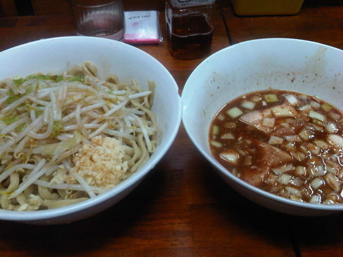 「たまつけ麺 ニンニクカラメ」@蓮爾 新町一丁目店の写真