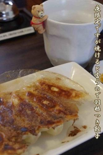 「羽根つき餃子5個300円」@麺家 ぶっきら坊の写真
