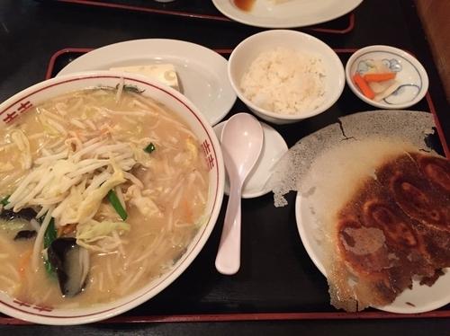 「味噌ラーメンセット」@歓迎 西口店の写真