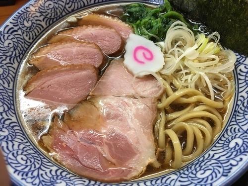 「醤油そば730円、鴨チャーシュー230円」@麺匠 而今の写真