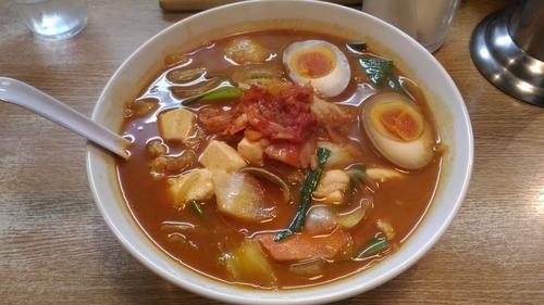 「海鮮チゲラーメン (880円)」@麺飯厨房 青葉台の写真