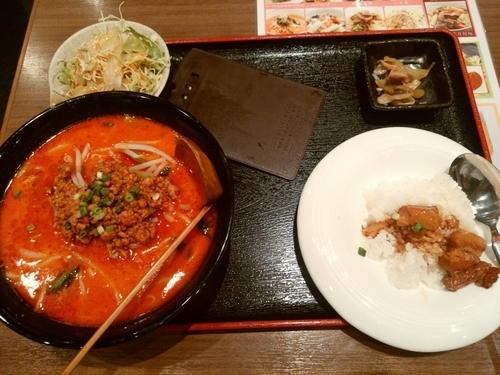 「ランチ定食(7:担々麺セット)880円」@四季の宴の写真