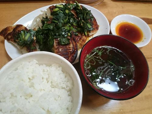 「新橋餃子・焼定食(5個)」@新橋ぎょうざ 本店の写真