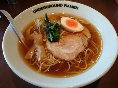 「ラーメン750円(クーポン使用で半額の375円)」@UNDER GROUND RAMENの写真