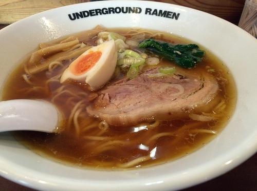 「和風正油ラーメン(750円)」@UNDER GROUND RAMENの写真