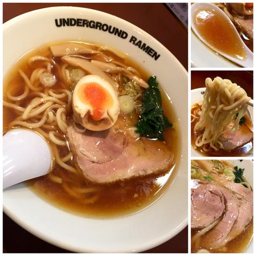 「中華そば ( 太麺Ver. )¥750」@UNDER GROUND RAMENの写真