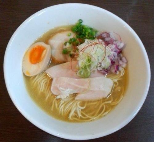 「[限定]鶏万湯(トリマンタン)ラーメン大盛(塩)800円」@つけ麺 弥七の写真