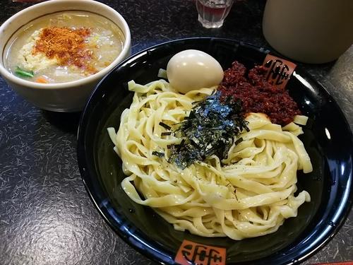 「エビ辛ぇつけ【中】 +味玉:メルマガサービス券」@でれ助の写真