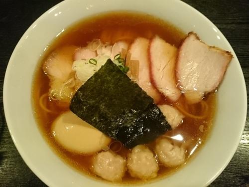 「チャーシューワンタンメン(醤油)+味付け玉子=¥1200」@支那ソバ 小むろの写真