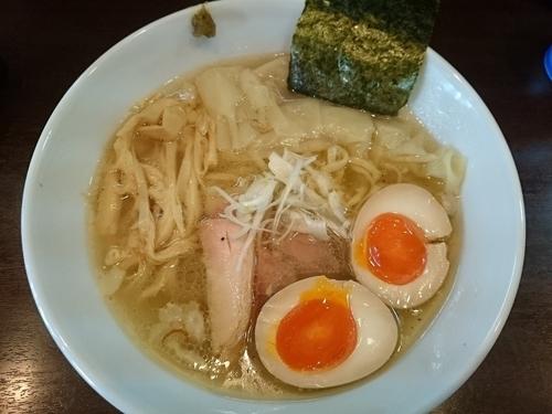 「わんたんめん(牛にぼスープに変更)¥850」@打立て自家製麺 ラーメンKの写真