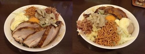 「まぜそば(並)¥800+全マシ+チャーシュ¥200」@つけ麺 弥七の写真