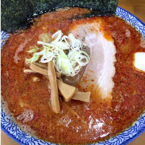 「辛い胡麻ラーメン(担々麺風) 850円」@青竹手打ラーメン ほそやの写真