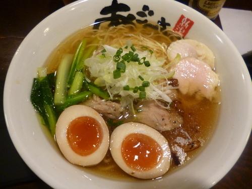 「旨塩鶏麺+味付けたまご」@麺屋 あごすけの写真