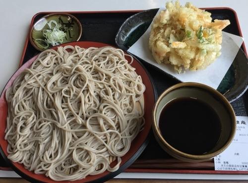 「かき揚げつけ天そば(¥450)」@味奈登庵 横浜市役所店の写真