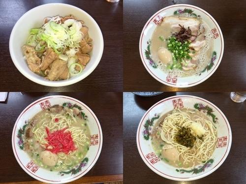 「種豚+味玉+チャーシュー+替え玉(2回)+もつ煮丼」@つけ麺 弥七の写真