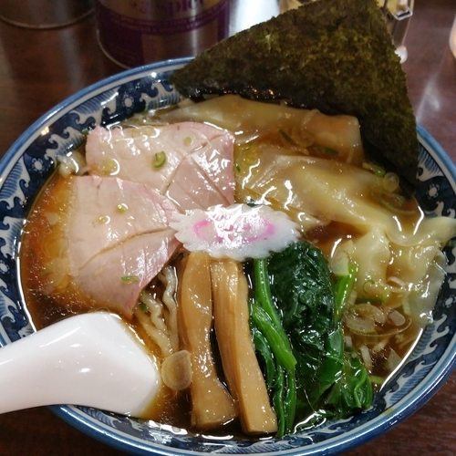 「わんたん麺(890円)」@白河中華そば 弘流の写真