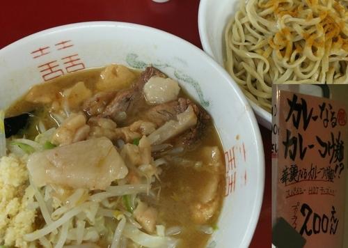 「華麗なるカレーつけ麺 ニンニクアブラ 700+200円」@ラーメン二郎 相模大野店の写真